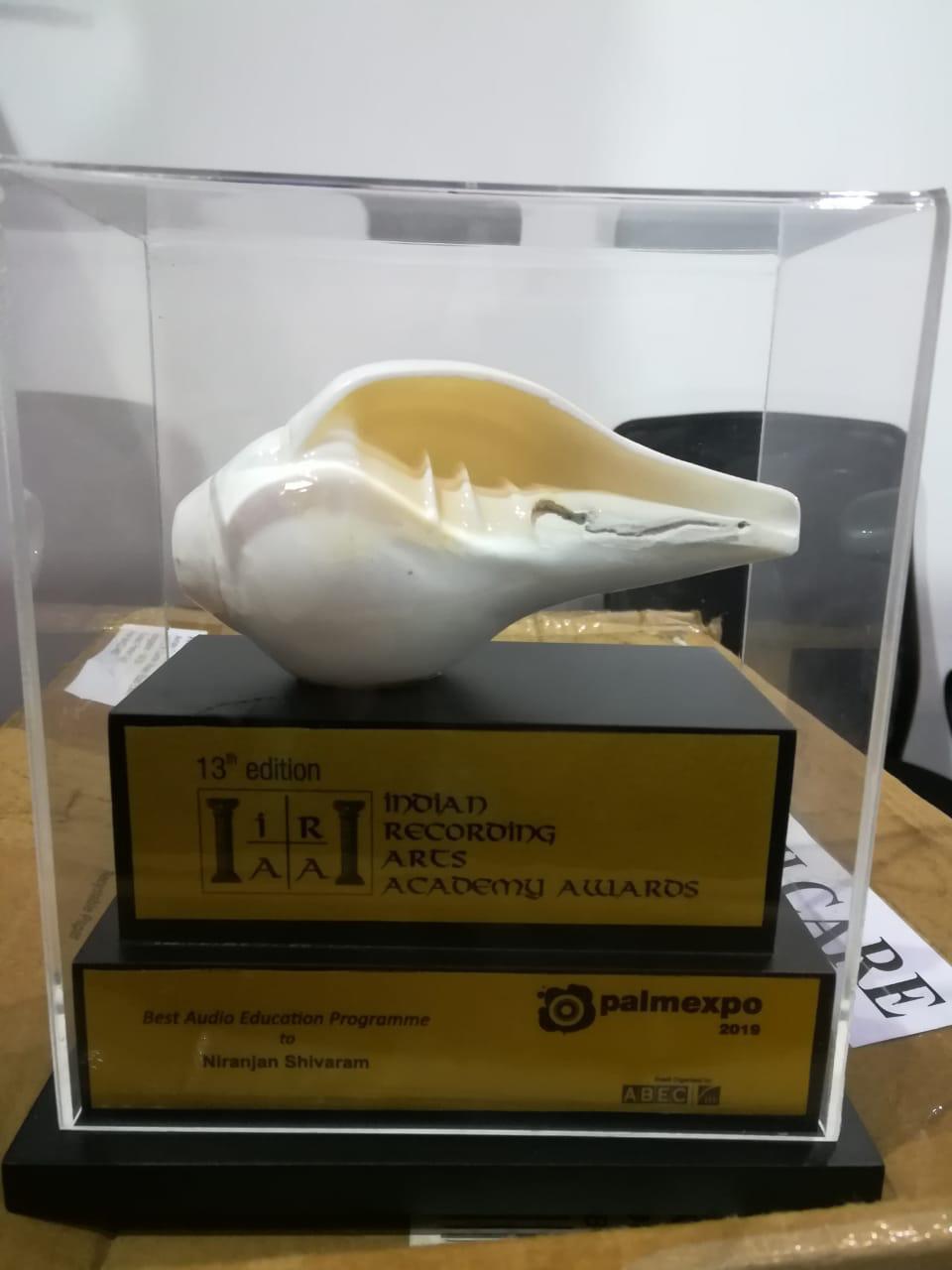 IRAA award
