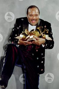 Quincy Jones with Grammys
